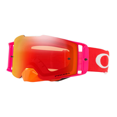 Oakley Front Line Goggle  Pinned Race Orange Red Frame/Prizm Torch Iridium Lens