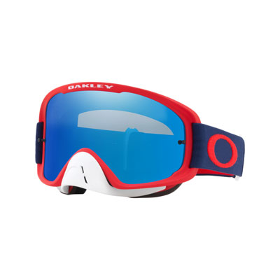 Oakley O2 MX Goggle  Red Navy Frame/Black Ice Iridium Lens