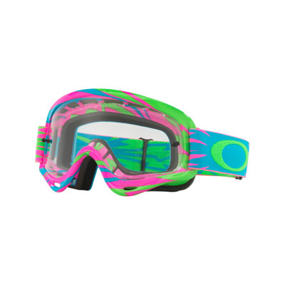 Oakley Youth XS O Frame Goggle  High Voltage Pink Blue Frame/Clear Lens