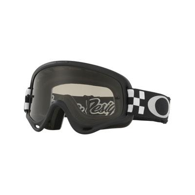 Oakley Youth XS O Frame Goggle  TLD Checker Black White Frame/Dark Grey Lens