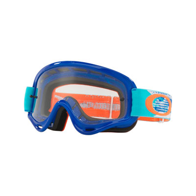 Oakley Youth XS O Frame Goggle  Treadburn Orange Blue Frame/Clear Lens