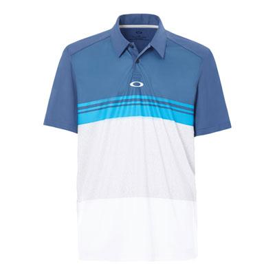 Oakley Color Blocked Take Polo Shirt Medium Ensign Blue