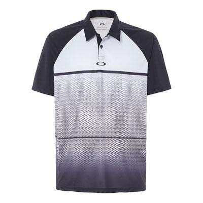 Oakley Moto Fade Polo Shirt Medium Light Grey