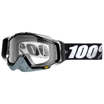 100% Racecraft Goggle  Abyss Black Frame/Clear Lens