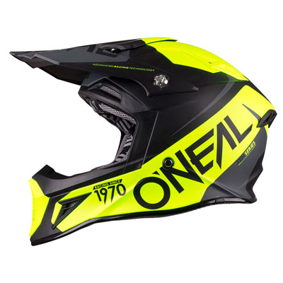 O'Neal Racing 10 Series Flow Helmet Medium Black/Grey/Hi-Viz