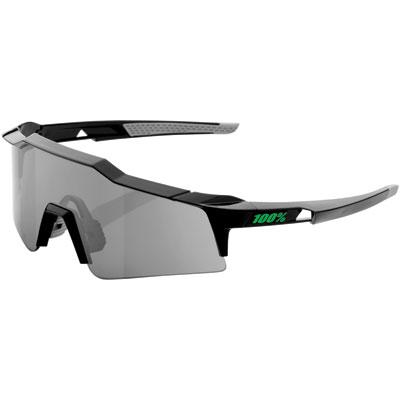 100% SpeedCraft Small Lens Sport Sunglasses Black Frame/Smoke Lens
