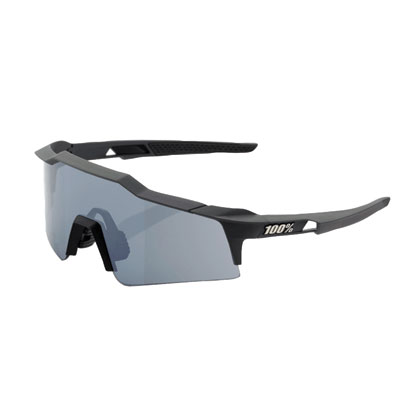 100% SpeedCraft Small Lens Sport Sunglasses Gunmetal Frame/Black Mirror Lens