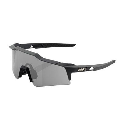 100% SpeedCraft Small Lens Sport Sunglasses Gunmetal Frame/Smoke Lens