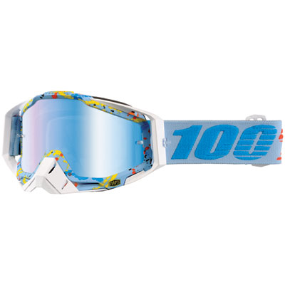 100% Racecraft Goggle  Hyperloop Frame/Blue Mirror Lens