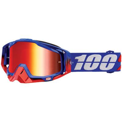 100% Racecraft Goggle  Republic Frame/Red Mirror Lens