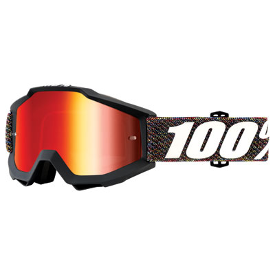100% Accuri Goggle  Krick Frame/Red Mirror Lens