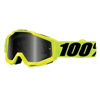 100% Accuri Sand Goggle  Fluo Yellow Frame/Grey Smoke Lens