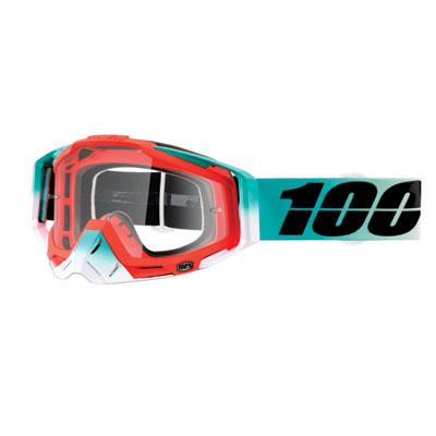 100% Racecraft Goggle  Cubica Frame/Clear Lens