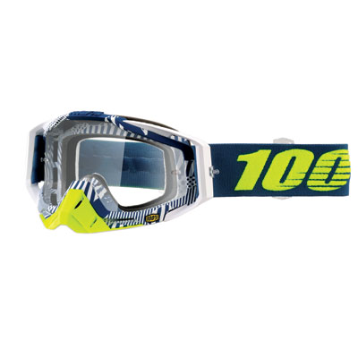 100% Racecraft Goggle  Eclipse Frame/Clear Lens