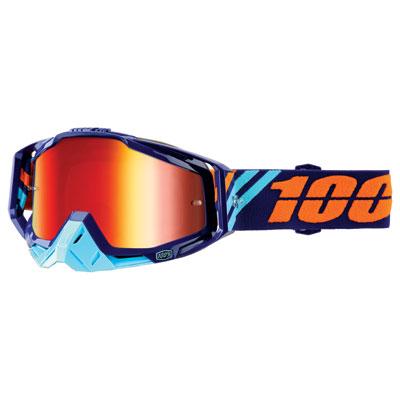 100% Racecraft Goggle  Calculus Navy Frame/Silver Mirror Lens