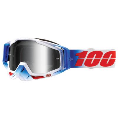 100% Racecraft Goggle  Fourth Frame/Silver Mirror Lens