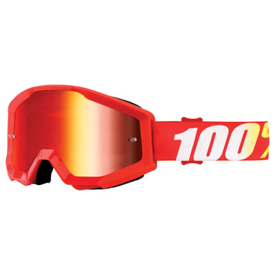 100% Strata Goggle  Furnace Frame/Red Mirror Lens