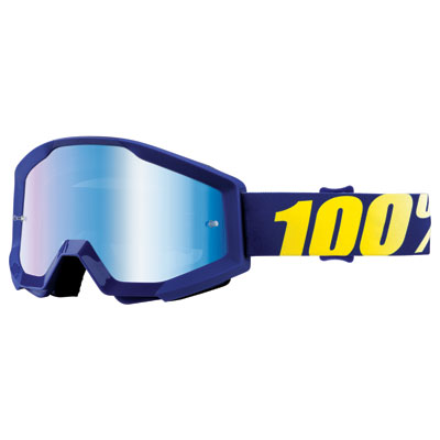 100% Strata Goggle  Hope Frame/Blue Mirror Lens