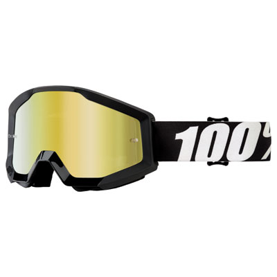 100% Strata Goggle  Outlaw Frame/Gold Mirror Lens
