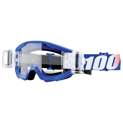 100% Strata SVS Roll-Off Goggle  Nation Frame/Clear Lens