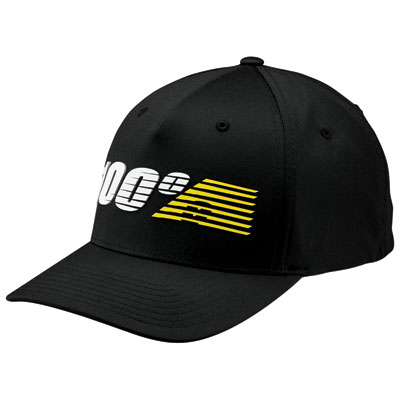 100% Starlight Flex Fit Hat Small/Medium Black