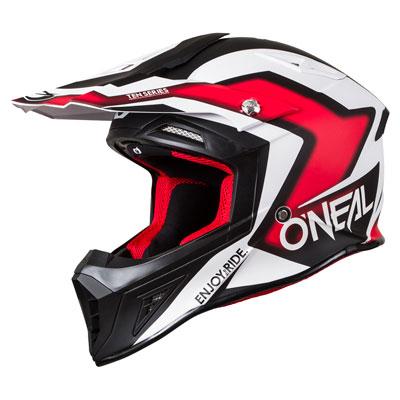 O'Neal Racing 10 Series Flow-True Helmet Large Black/Red