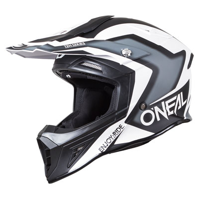 O'Neal Racing 10 Series Flow-True Helmet Medium Black/White