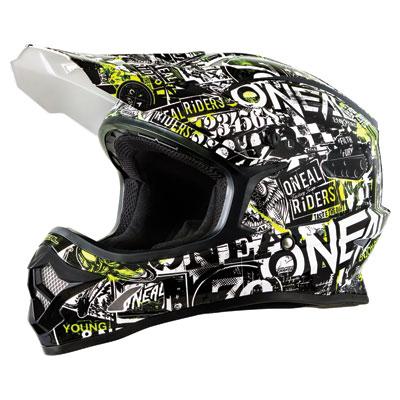 O'Neal Racing 3 Series Attack Helmet XX-Large Black/Hi-Viz
