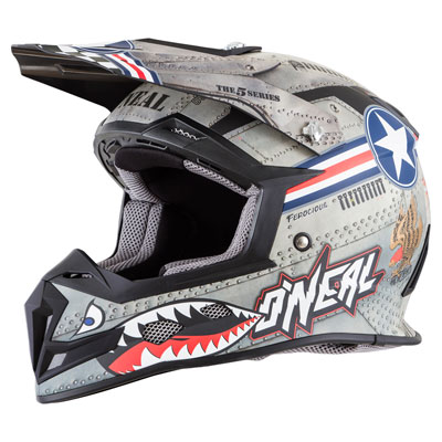 O'Neal Racing 5 Series Wingman Helmet X-Large Multi/White