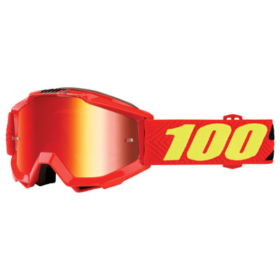 100% Youth Accuri Goggle  Saarinen Frame/Red Mirror Lens