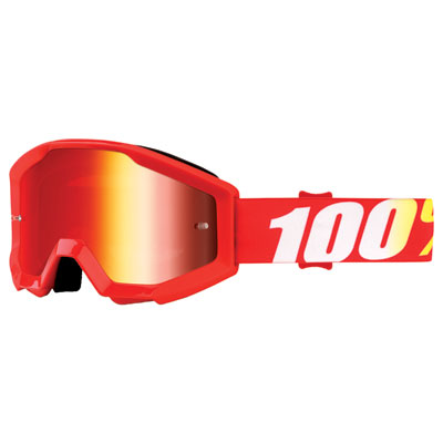 100% Youth Strata Goggle  Furnace Frame/Red Mirror Lens