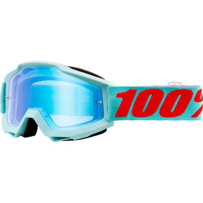 100% Accuri Goggle  Maldives Frame/Blue Flash Mirror Lens