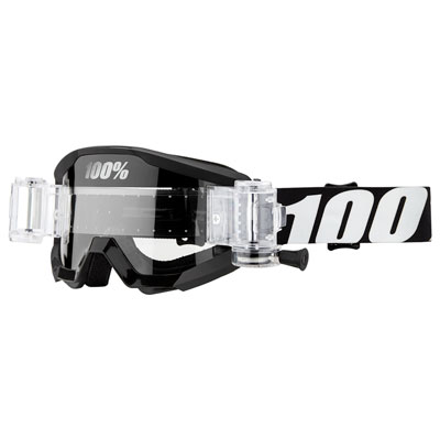 100% Strata SVS Roll-Off Goggle  Outlaw Frame/Clear Lens
