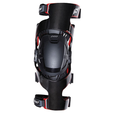 MX K700 Knee Brace Pair Black/Red