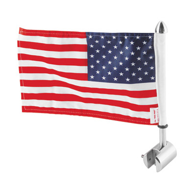 Pro Pad Sissy Bar Square Mount with 6 x9  USA Flag