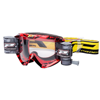 Pro Grip 3458-16 Roll-Off Goggle with Roll-Off System  Red/Black
