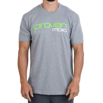 Proven Moto Logo T-Shirt Small Heather Grey