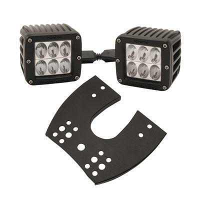 Rigid Industries Dually D2 LED Lights with ATV Mount 3 x3  Drive Beam