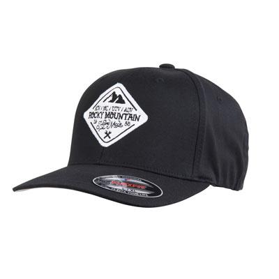 Rocky Mountain ATV/MC The Digger Flex Fit Hat Small/Medium Black