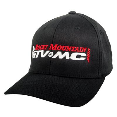 Rocky Mountain ATV/MC Logo Flex Fit Hat Small/Medium Black