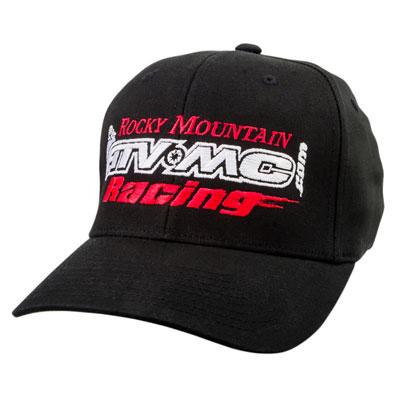 Rocky Mountain ATV/MC Racing Flex Fit Hat Small/Medium Black