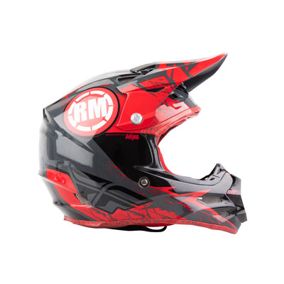 Rocky Mountain ATV/MC Helmet Decals  Red