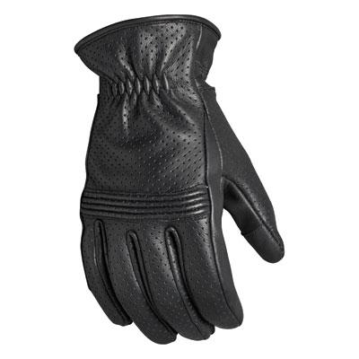 Roland Sands Design Wellington Leather Gloves Small Black
