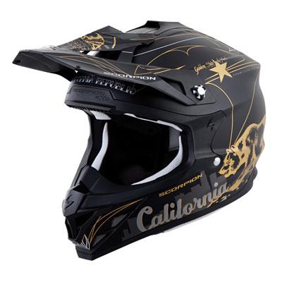 Scorpion VX-35 Golden State Helmet Medium Black