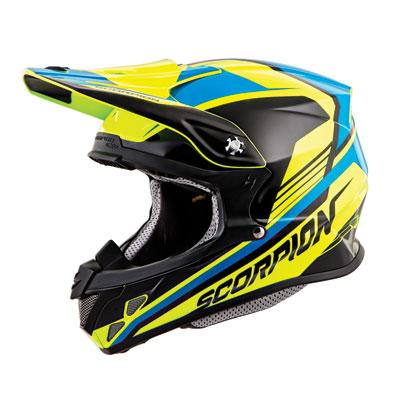 Scorpion VX-R70 Ascend Helmet XX-Large Neon/Blue