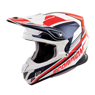 Scorpion VX-R70 Ascend Helmet X-Large Neon Red/Blue