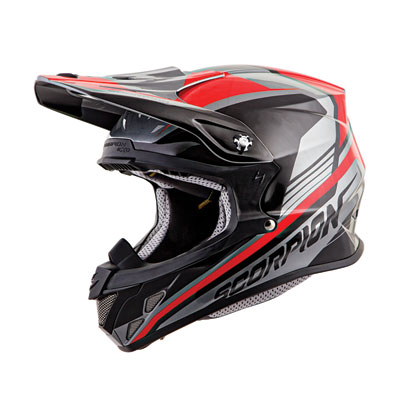 Scorpion VX-R70 Ascend Helmet Small Silver/Red