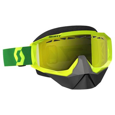 Scott Hustle SnowCross Goggle  Yellow-Green Frame/Amplifier Yellow Chrome Lens