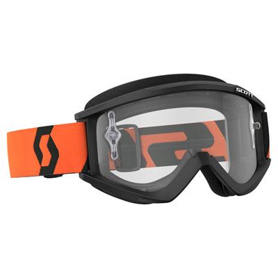 Scott Recoil Xi Goggle  Black-Orange Frame/Clear Works Lens