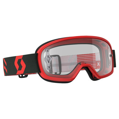 Scott Youth Buzz Pro Goggle  Red-Black Frame/Clear Works Lens